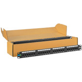 ICC PATCH PANEL, CAT 6, 24-PORT, 1 RMS, 6 PK ICMPP2460V