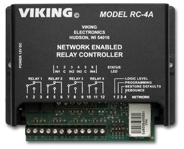 Viking Electronics Network Enabled 4 Relay Controller RC-4A