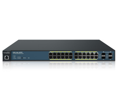 EnGenius 24-Port Managed GbE 410W PoE+ Switch w/4 EWS1200-28TFP