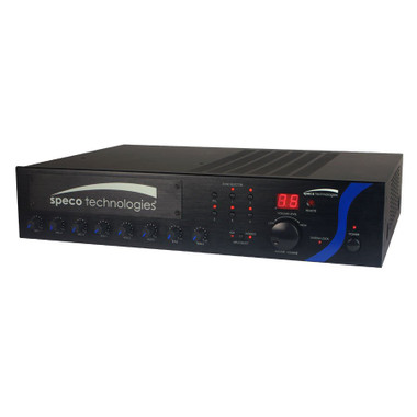 SPECO 120W PA Mixer Amplifier with Module Bay PBM120A