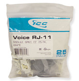 IC1076VCWH - 25PK Cat3 Jck 6Con. - White