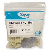 IC107E5CIV - 25PK Cat5 Jack - Ivory
