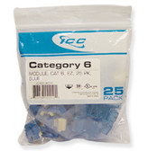 IC107L6CBL - 25PK Cat6 Jack - Blue