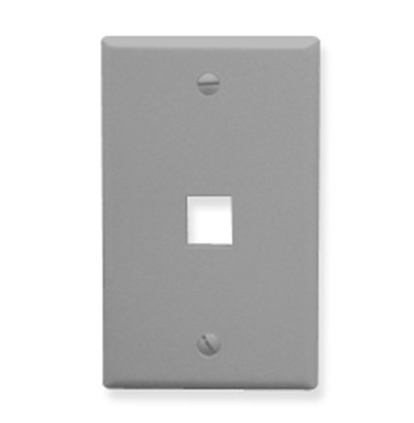 IC107F01GY - 1Port Face - Gray