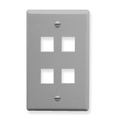 IC107F04GY - 4Port Face - Gray