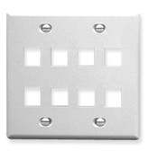 IC107FD8WH - 8 Port Face White, 2-Gang
