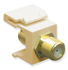 MODULE, F-TYPE, GOLD PLATED, IVORY
