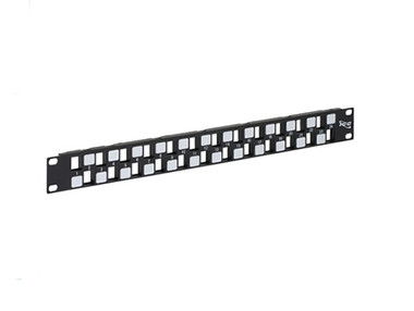 PATCH PANEL, BLANK, EZ, 24-PORT, 1 RMS