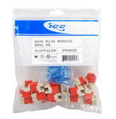 MODULE, CAT 5e, HD, 25 PK, ORANGE