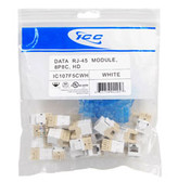MODULE, CAT 5e, HD, 25 PK, WHITE
