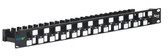 PATCH PANEL,BLANK,CAT 6A UTP,24PORT,1RMS