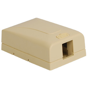 SURFACE MOUNT BOX, ELITE, 1-PORT, IVORY