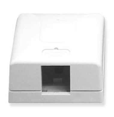 SURFACE MOUNT BOX, ELITE, 1-PORT, WHITE
