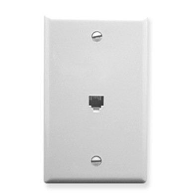 WALL PLATE, VOICE 6P6C, WHITE