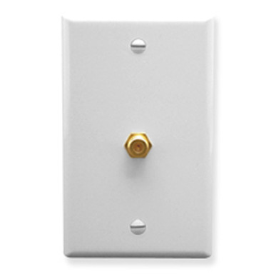 WALL PLATE, F-TYPE, WHITE