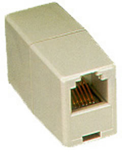MODULAR COUPLER VOICE 8P8C KEYED PIN 1-1
