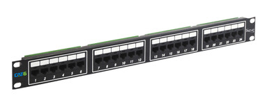 PATCH PANEL, CAT 6, 24-PORT, 1 RMS