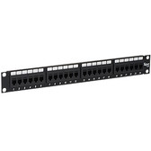PATCH PANEL,CAT 6, FEED-THRU 24-P,1RMS