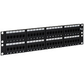 PATCH PANEL,CAT 5e, FEED-THRU 48-P,2RMS