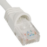 PATCH CORD, CAT 5e, MOLDED BOOT, 1' WH
