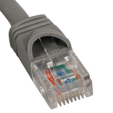 PATCH CORD, CAT 5e, MOLDED BOOT, 5' GY