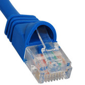 PATCH CORD, CAT 5e, MOLDED BOOT, 7' BL