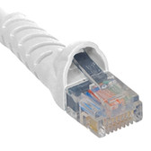 PATCH CORD, CAT 5e, MOLDED BOOT, 14' WH