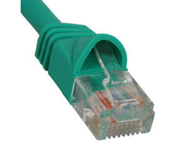 PATCH CORD, CAT 6, MOLDED BOOT, 7' GN