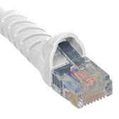 PATCH CORD, CAT 6, MOLDED BOOT, 25'  WH
