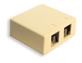 IC107SB2IV - SURFACE BOX 2PT Ivory