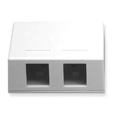 IC107SB2WH - SURFACE BOX 2PT White