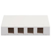 IC107SB4WH  SURFACE BOX, 4 PORT WHITE