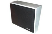 8in Amplified Wall Speaker, Metal, Black