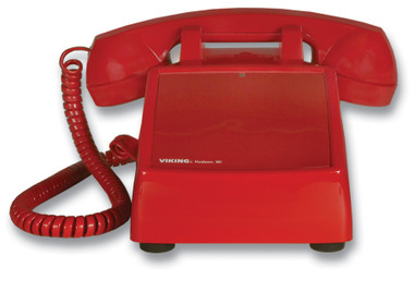 No Dial Desk Phone - Red