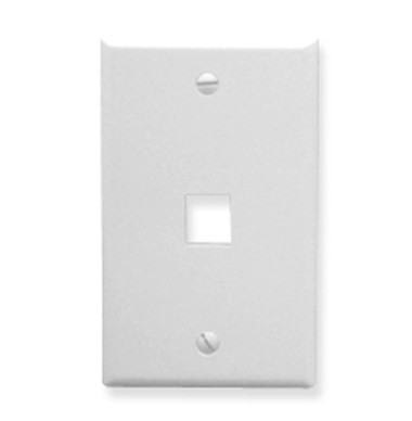 ICC FACEPLATE, OVERSIZED, 1-PORT, WHITE IC107LF1WH