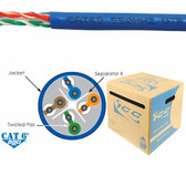 ICC CAT6e CMR PVC Cable Blue ICCABR6EBL