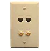 ICC FACEPLATE IDC 2 DATA and 2 F TYPE IVORY ICRDS2F5IV