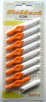 Stoddard ICON Soft Interdental Brushes XXX Fine -2.0mm Orange - 8 Brush Pack