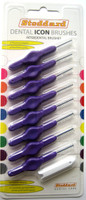 Stoddard ICON Soft Interdental Brushes Large -6mm Purple - 8 Brush Pack