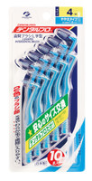 DentalPro Size 4 (M) L-Shaped Interdental Brushes 10 - Bulk Pack