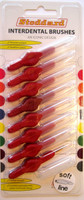 Stoddard ICON Extra Soft Interdental Brushes XXFine -2.5mm Red - 8 Brush Pack - SoftLine