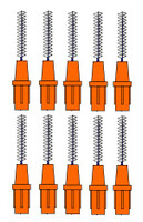 Stoddard 3-WAY Soft Proximal Brushes XXXFine -2.0mm Orange Refills - 10 Brushes