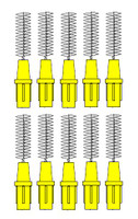 Stoddard 3-WAY Soft Proximal Brushes Fine -3.5mm Yellow Refills - 10 Brushes