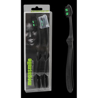 Black megasmile LOOP BLACK WHITENING Toothbrushes (DUO PACK)