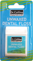 Dr Collins Unwaxed UnFlavored Floss - 54.7 yds