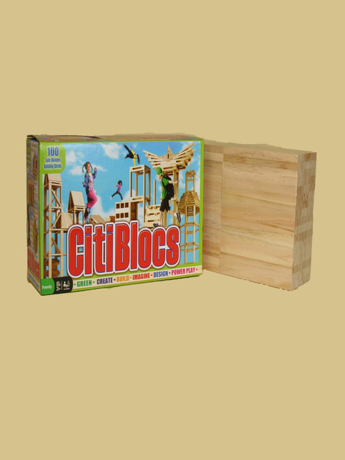 100 Piece Wooden Building Set - Sustainable Wood