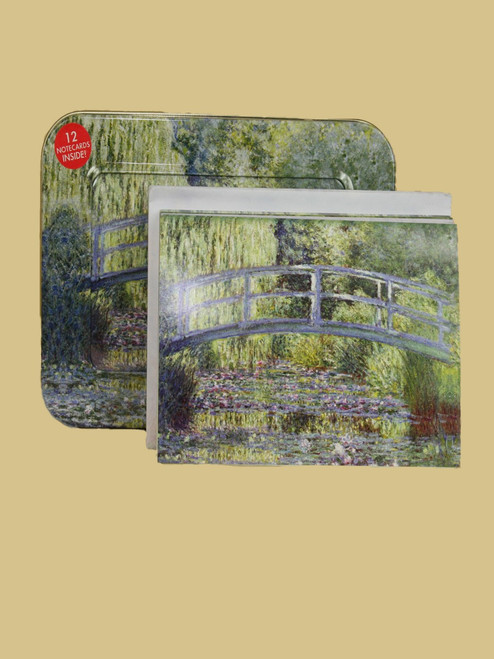 Monet's Water Lillies Cards and Tin Box