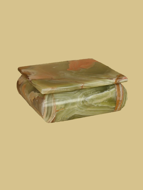Multi Green  Square Onyx Box