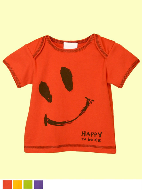 Baby Ha-Ha Smile Top . Organic Cotton - Fair Trade