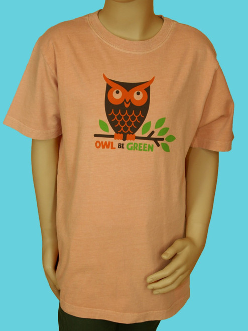 Owl Be Green Tee . 100% Organic Cotton - Fair Trade